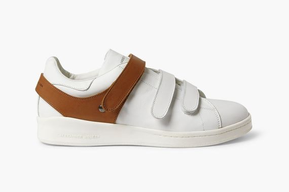 alexander mcqueen-harness leather sneakers