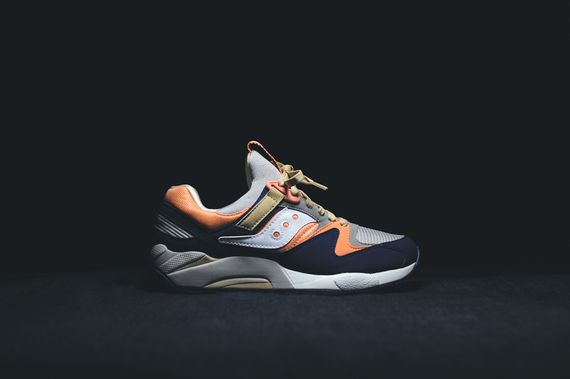 saucony-grid 9000-tan-navy-coral