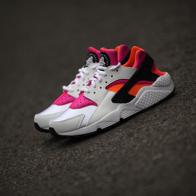 nike huarache grey and orange