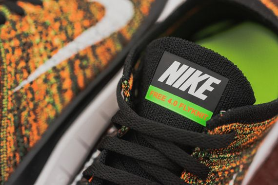 nike-free 4.0 flyknit-poison green-total orange_04