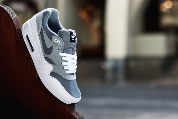 nike-air max 1 leather-grey-white-black