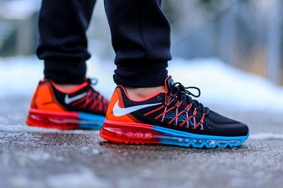 Nike Air Max Lagon Bleu Et Rouge Vif