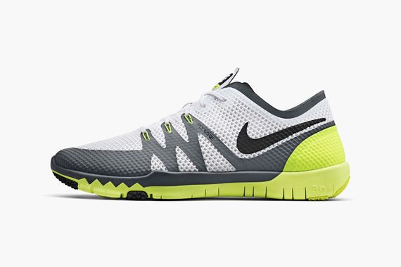 nike-free trainer 3.0-white-volt-cool grey-black