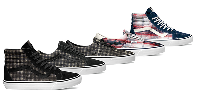 Vans Releases Distressed Plaid Classics for Spring 2015
