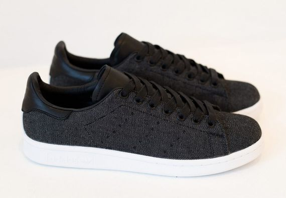 adidas-stan smith-black denim