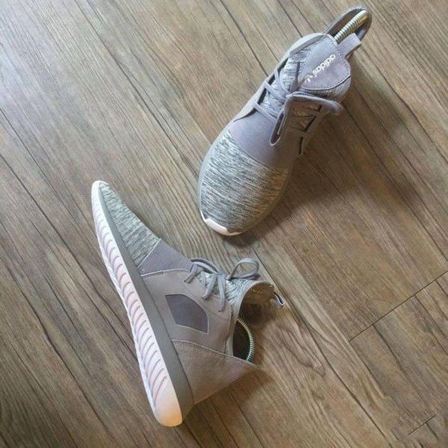Adidas Tubular Invader Strap Future Gray Beige White Ice BB 5038
