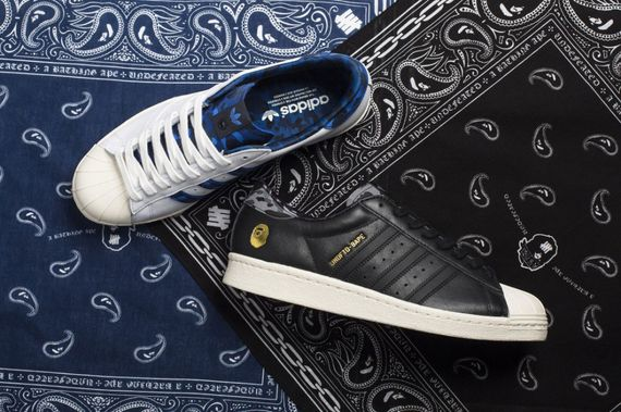 bape-undefeated-adidas og-superstar 80s pack