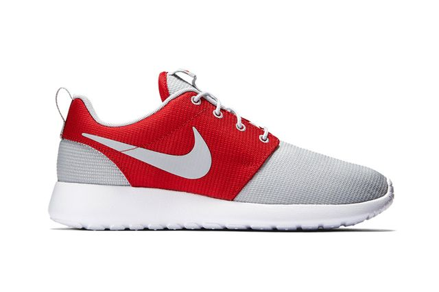 nike-roshe run one-wolf grey-gym red