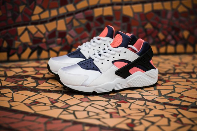 nike-air huarache run-hot lava-blue legend