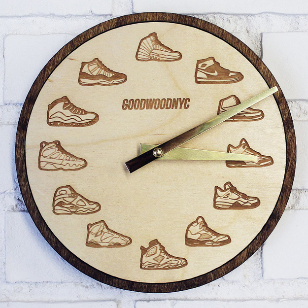wooden-air-jordan-retro-wall-clock-1