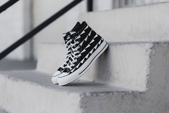 converse-chuck taylor all star-black-white pattern