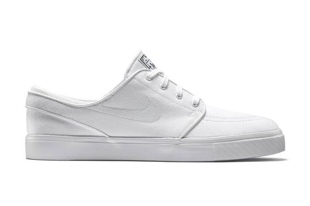 nike sb zoom-stefan janoski-white canvas