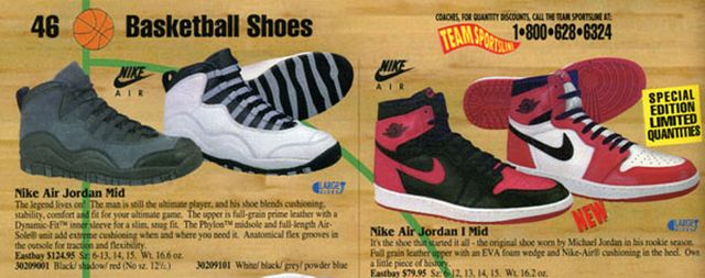 bc114f15b99 Air Jordan Prices from Old Eastbay Catalogs were Jaw Dropping