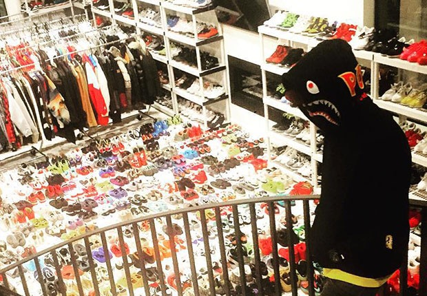 chris browns sneaker closet will have you blown away