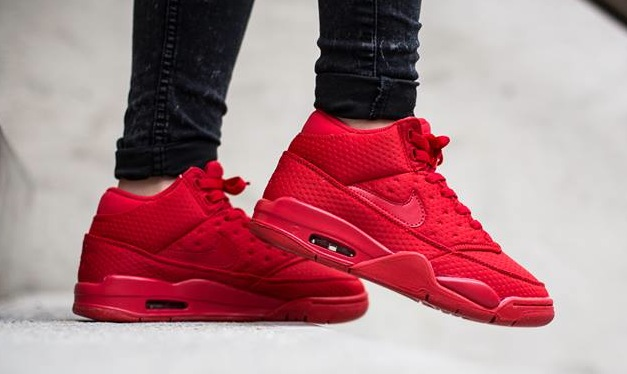 nike-air flight classic-uni red