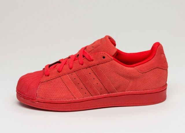 Adidas Originals Superstar 80 S Red Suede