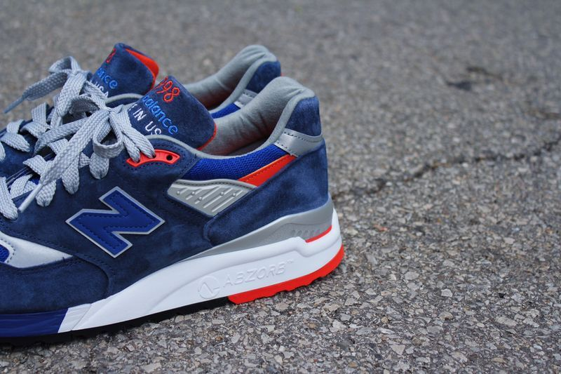 new balance 998 bleu orange