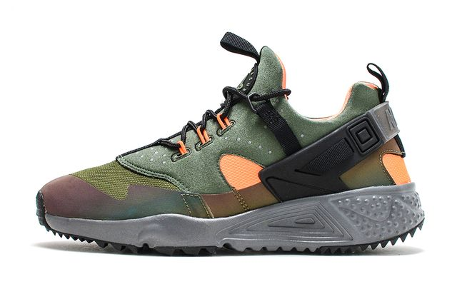 nike-air huarache utility-carbon green