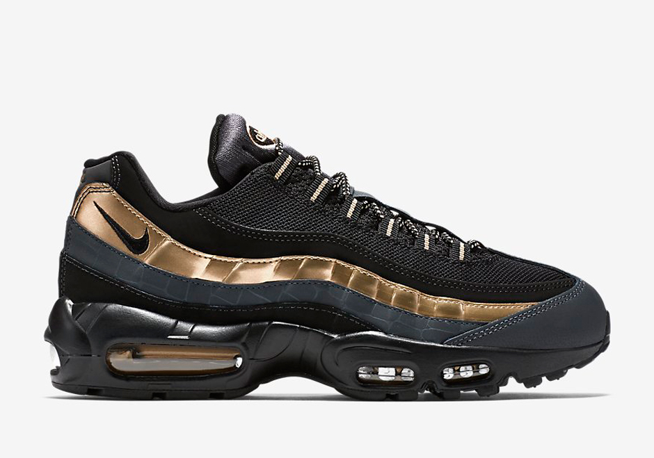 air max 95 nere oro