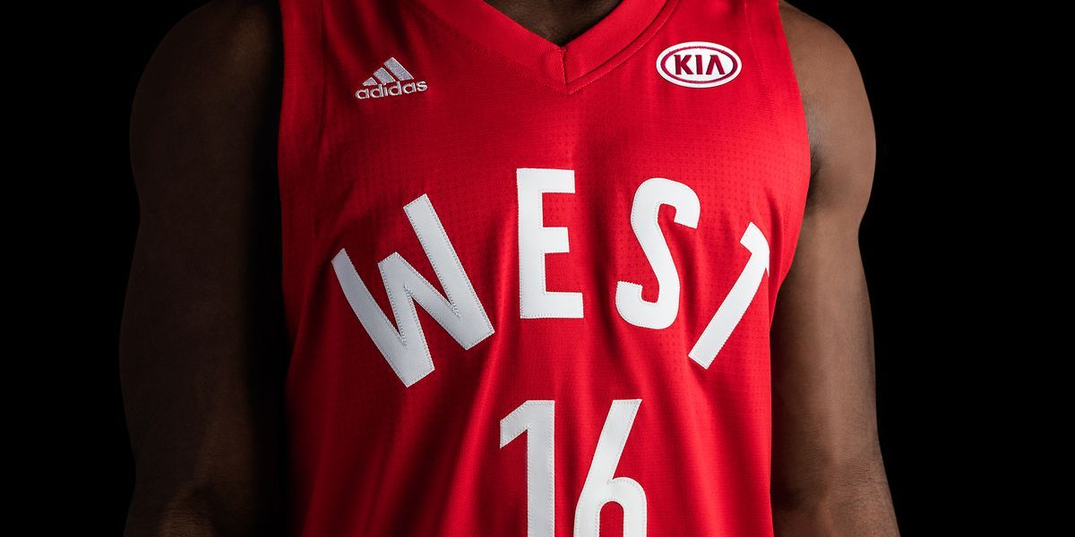 adidas-NBA All-Star West Jersey Front H