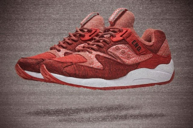 endxsaucony grid 9000 red noise