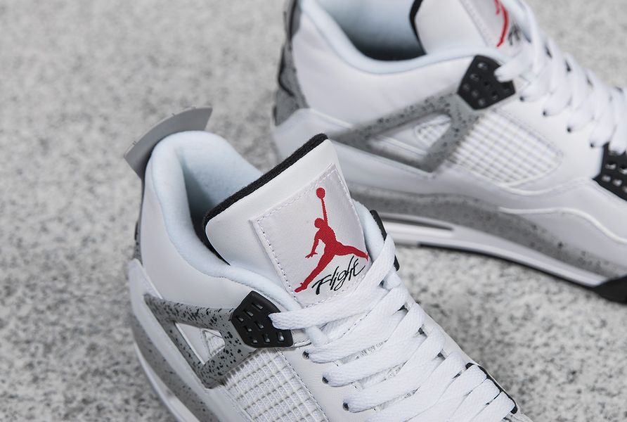 Air Jordans 4 White Cement