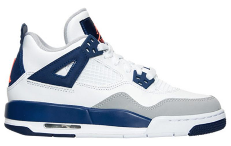 Air-Jordan-4-GS-White-Deep-Royal-Blue-Wolf-Grey-Hyper-Orange