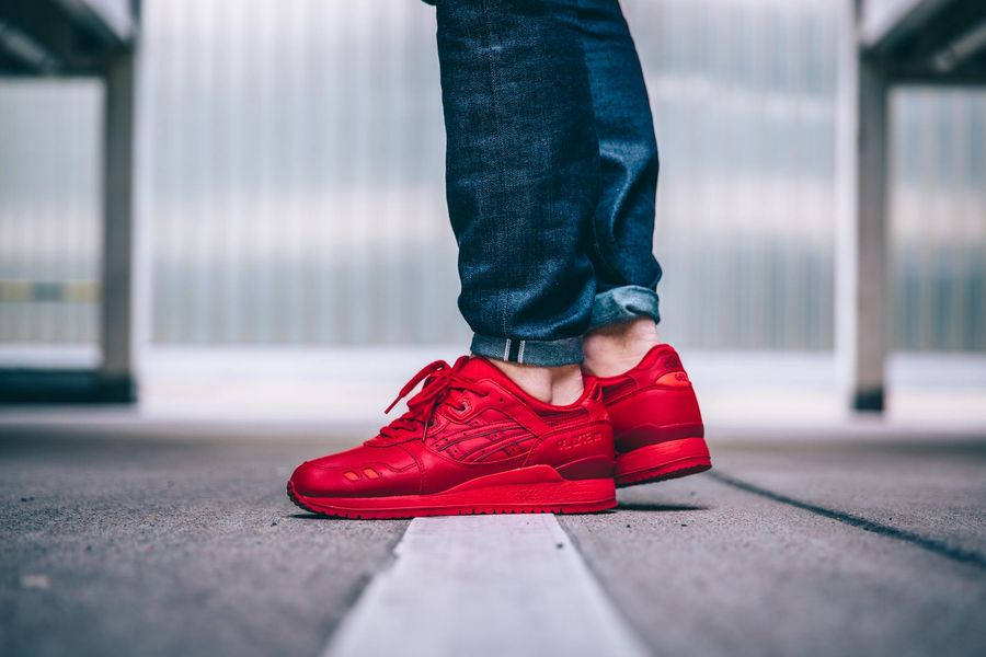 asics gel lyte 3 all red