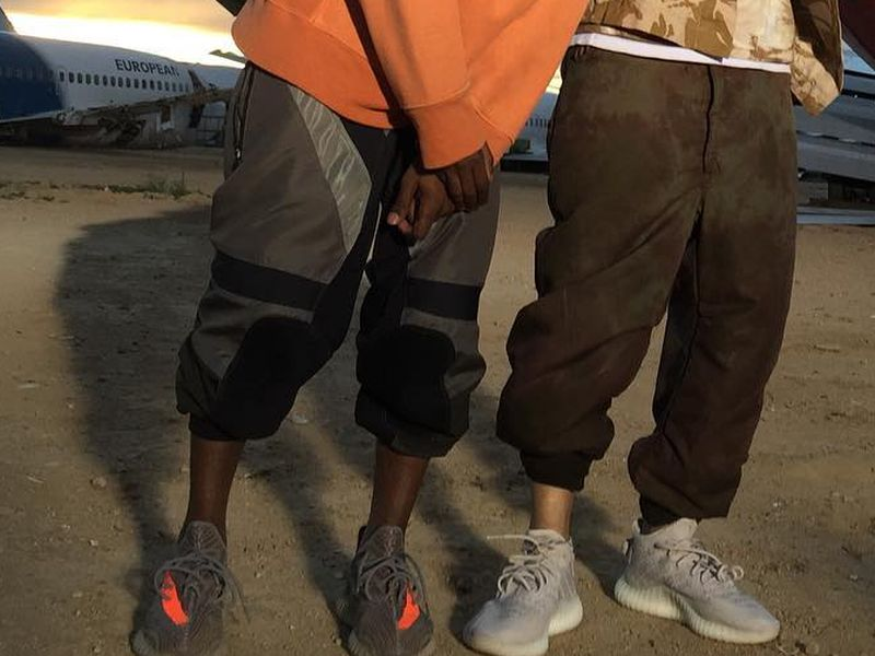 a0d9d010d4e1 Kanye West and French Montana wear Unreleased Adidas Yeezy Colorways