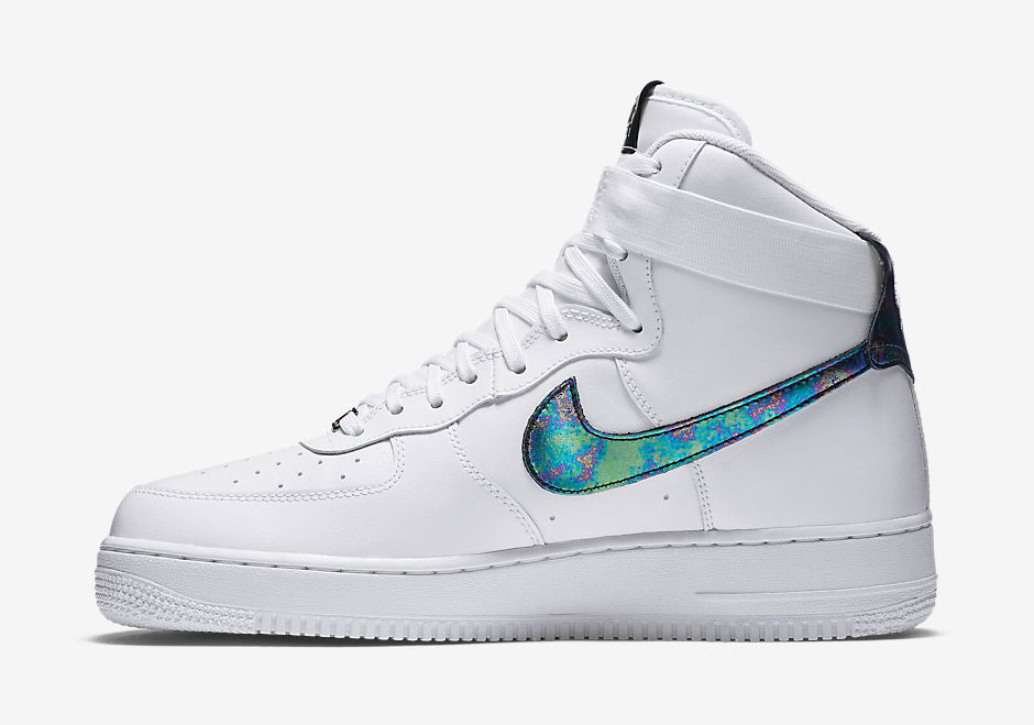 air force 1 white and shimmer