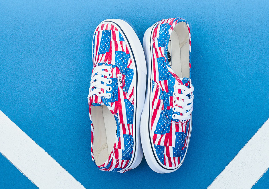 vans-authentic-amerian-flag