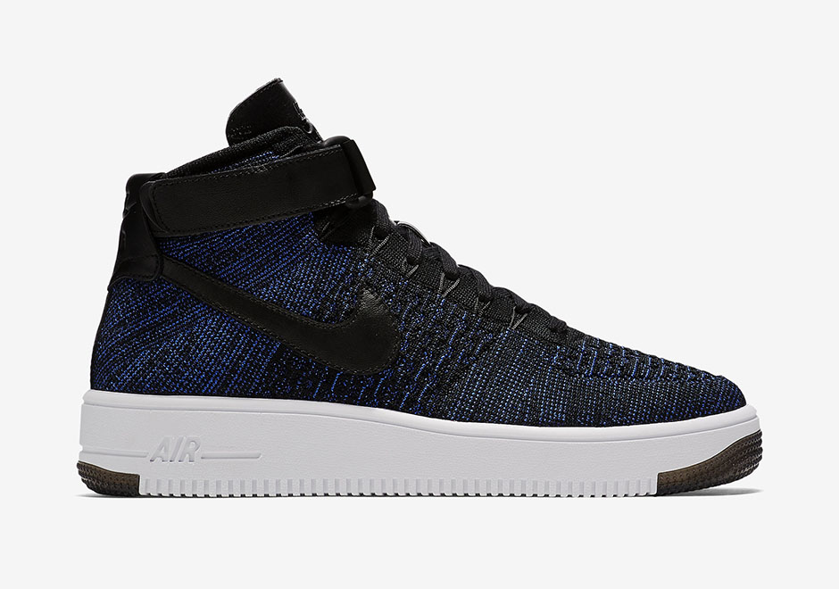 nike air force 1 flyknit mid - game royal