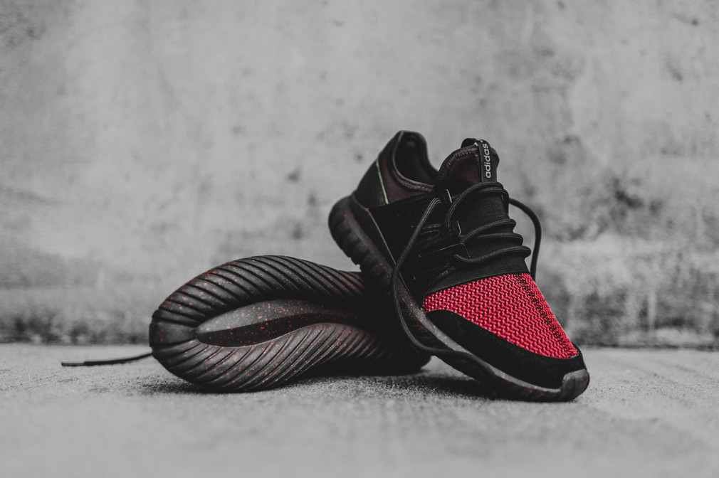 best service eb850 8fd95 inexpensive adidas tubular radial black and red d29ad 8c11b