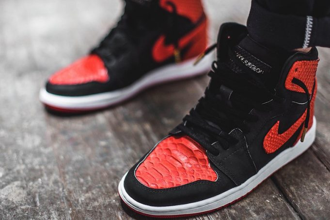 The-Shoe-Surgeon-Banned-Air-Jordan-1-Red-Python-2-681x454
