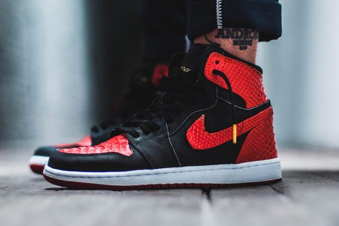 The-Shoe-Surgeon-Banned-Air-Jordan-1-Red-Python-681x454