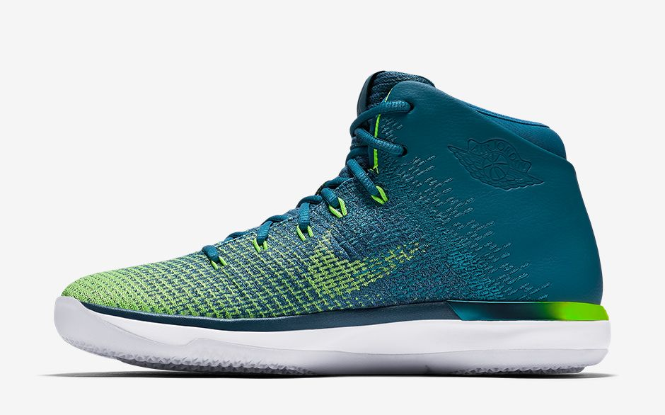 buy online 70be7 40e4c ... air-jordan-31-green-abyss 04  Air Jordan XXX1 Brazil Rio  Nike Air  Jordan 31 XXXI Green Abyss 845037-325 Mens Basketball ...