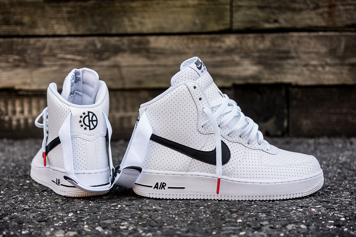 nike air force 1 high perf white black. Black Bedroom Furniture Sets. Home Design Ideas