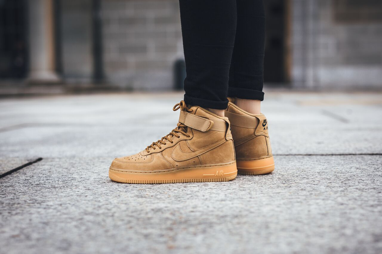 new concept 0779a f63bf nike-air-force-1-high-flax