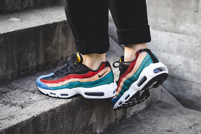 nike air max 95 premium black dark cayenne rio teal