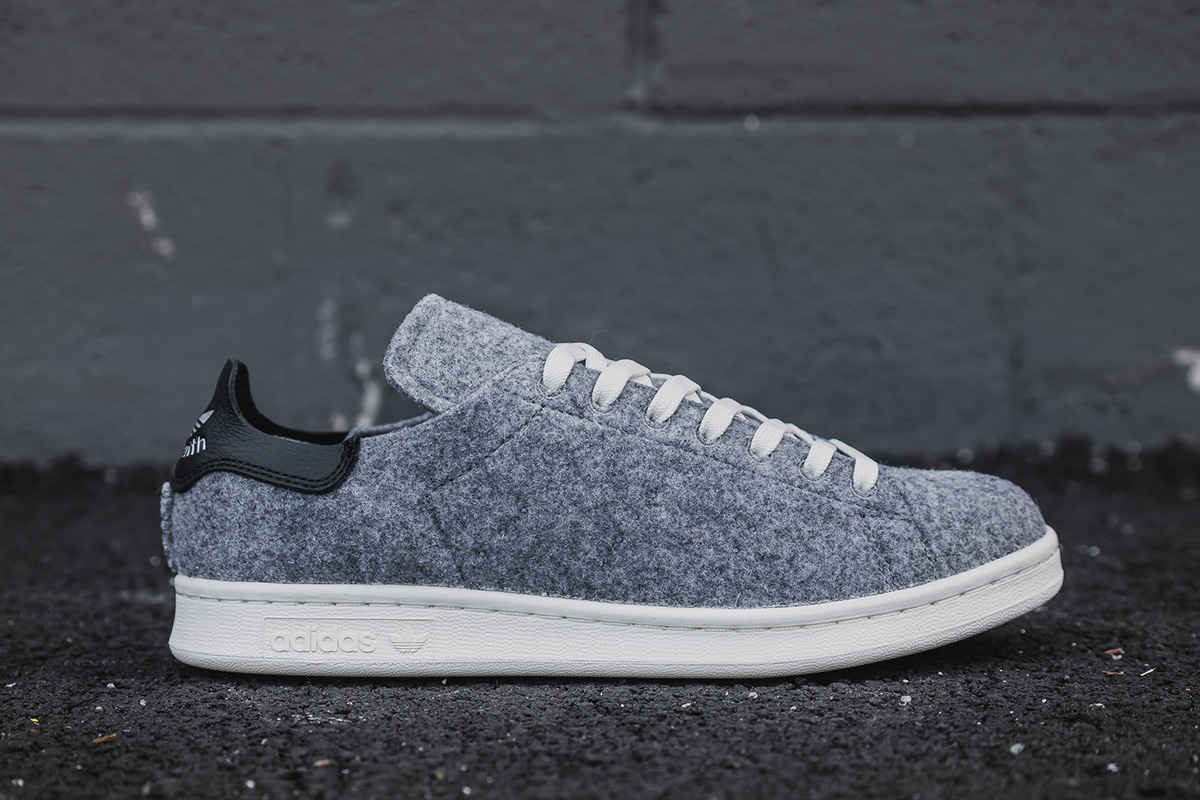 "save off a9fec f3512 Adidas Stan Smith PC ""Grey Wool"""