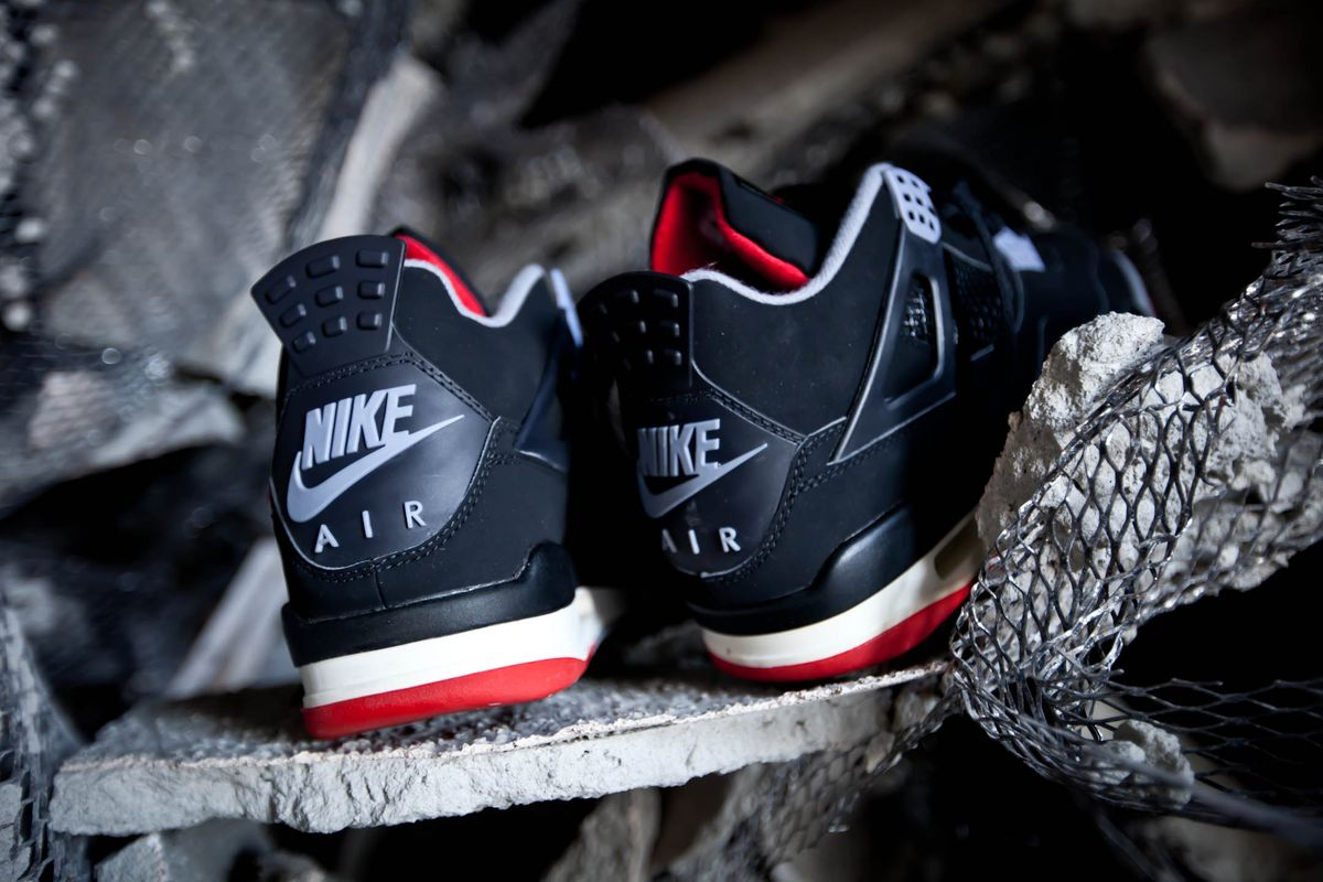 """quality design f09b9 717a5 In celebration of the 30th Anniversary of the Air Jordan 4, Jordan brand  brings back The Air Jordan 4 """"Bred"""" with Nike Air on the heel for the first  time ..."""