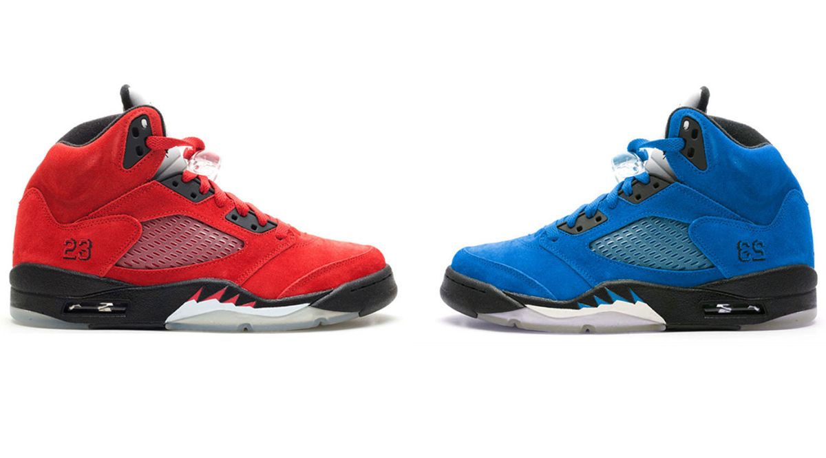 f7d649d452565b Air Jordan 5 Retro Suede Red   Blue Pack