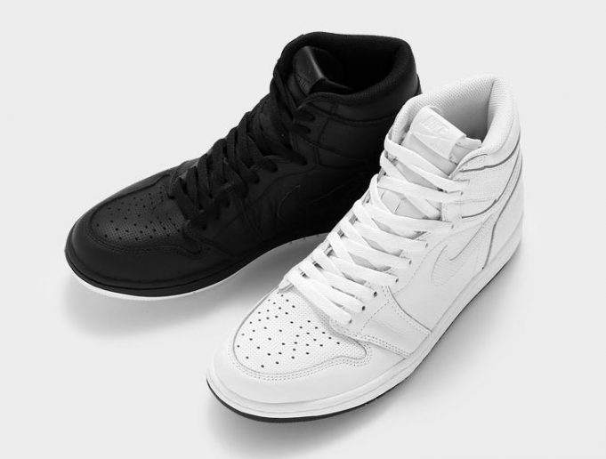 best sneakers 21f91 aa58c Jordan Brand preps the Air Jordan 1 for a Ying Yang pack consisting of a  White and Black colorway. The Air Jordan 1 s are done up in leather with  original ...
