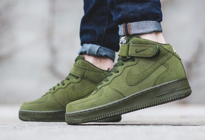 nike air force 1 mid 07 verde oliva
