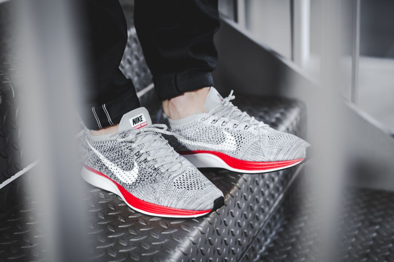 """sale retailer fb021 e49f7 Inspired by those that refuse to halt their run, the Nike Flyknit Racer """"No  Parking"""" is Nike Running s latest release. The Nike Flyknit Racer features  a ..."""