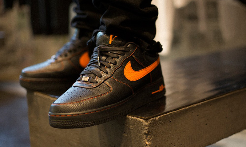 Nike Air Force 1 Mid '07 (Black) On Feet