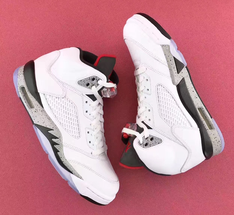30978434c7c ... where to buy update heres a closer look at the air jordan 5 white cement  in