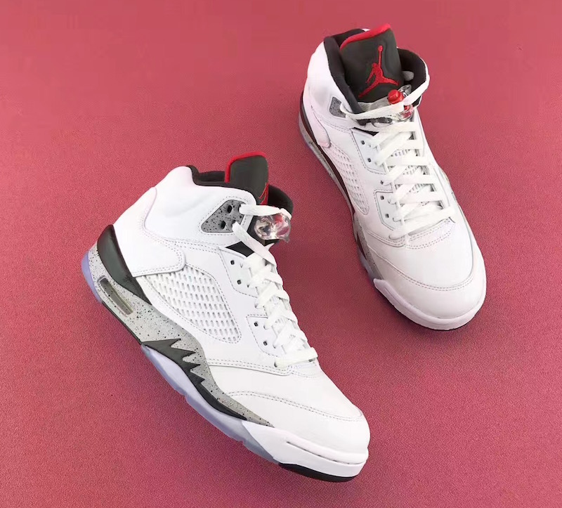 ... where to buy update heres a closer look at the air jordan 5 white cement  in 04c6f2f0e