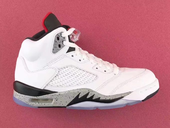 "0ba7100497f Update: Here's a closer look at the Air Jordan 5 ""White Cement"" in full  detail."