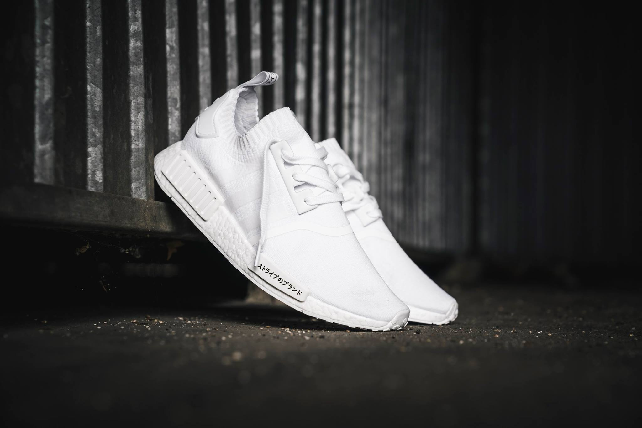"""9f020e289 adidas NMD R1 Primeknit """"Triple White"""" Color  Footwear White Footwear White-Footwear  White Style Code  BZ0221 Release Date  August 11"""